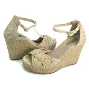 Steve Madden Women's Tan Wedge Platform Sandals